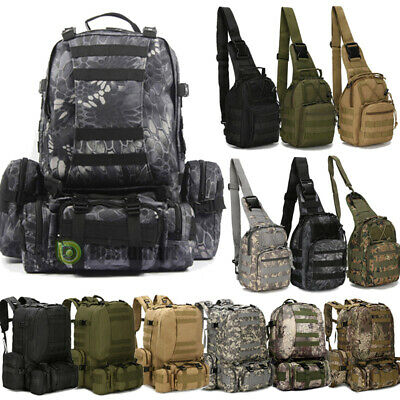 8L/10L/55L Outdoor Molle Military Tactical Camping Hiking Trekking Bag Backpack