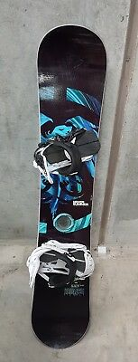 Never Summer legacy Snowboard 163cm wide  Rome boss 390 Bindings, Great Conditio