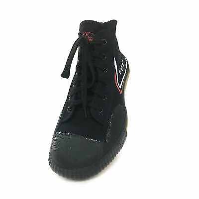 Hot TOP ONE Chinese Feiyue Black High Shoes Canva Running Kung Fu Wushu  Taichi 4d77e7a7e149