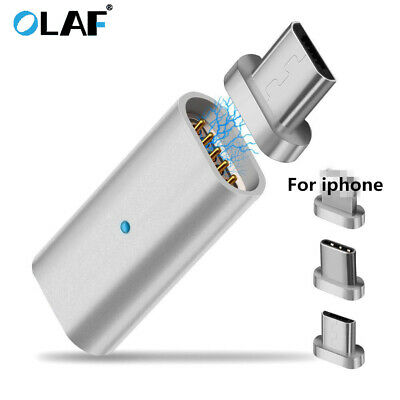 Magnetic Micro USB Adapter Charger Transfer Connector For Android iPhone Type C