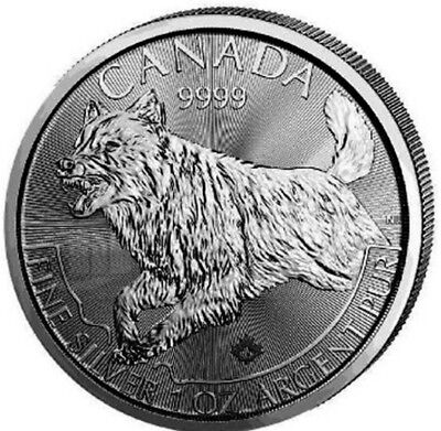 2018 WOLF COIN 1oz .9999 SILVER.3rd IN CANADIAN PREDATOR SERIES