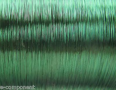 copper wire Enamelled Green Weldable for electronics 0,25mm (1 Meter)