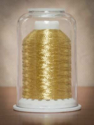 Hemingworth Machine Embroidery Polyester Thread Light Gold Metallic 700m