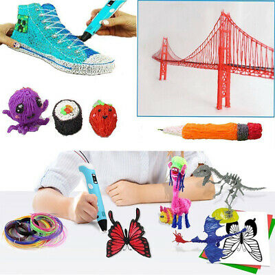 3D Printing Pen 2nd Crafting Doodle Drawing Arts Printer Modeling PLA/ABS