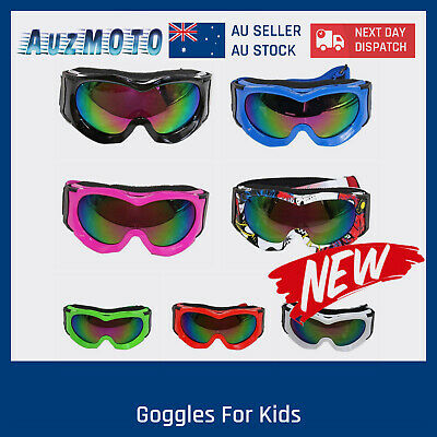 Motocross Dirt Bike Goggles Kids Youth Size 7 Colours 4 ATV Quad BMX Eye Protect