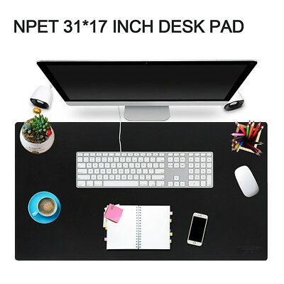Desk Pad Protector 31'' x 17'' Leather Desk Pad Large Mouse Mat with Rubber Base