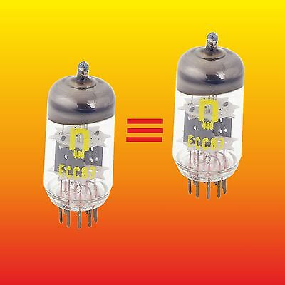 ECC83 STRONG MATCHED PAIR (difference=0%) GERMANY RFT TUBES ~ 12AX7 E83CC