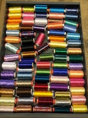 Assorted Machine Embroidery Threads