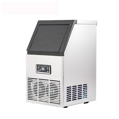 AC110V 220V 40KG Auto Commercial Ice Maker Cube Machine Stainless Steel Bar 230W