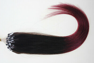 20'' Micro Ring Beads Loop Real Remy Human Hair Extensions 100S 200S AU STOCK