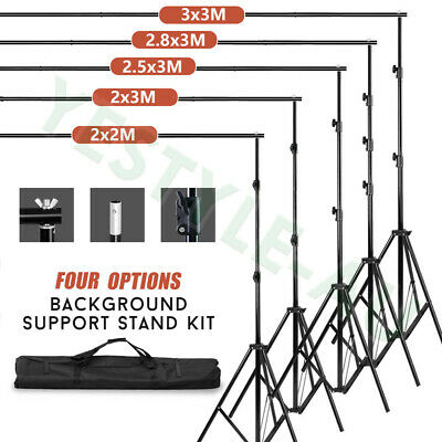 Photography Heavy Duty Backdrop Screen Stand Kit Studio Background Support Set