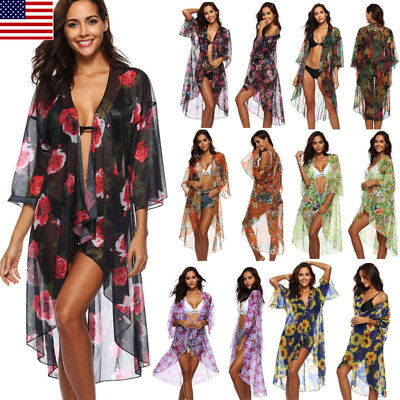 Women Sexy Wrap Dress Sarong Beach Swimwear Cover Up Sunblock Bikini Scarf Wrap
