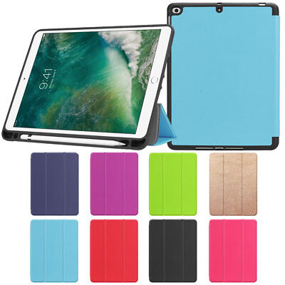 Thin Leather Smart Stand Case Cover with Pencil Holder For Apple iPad Pro 10.5