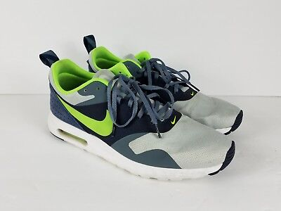 official photos 985a5 d7067 Mens NIKE Air Max Tavas 705149 003 Grey Mist Flash Lime Blue Sneakers Size  11