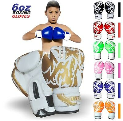 ONEX 4oz/6oz Kids Boxing Gloves Junior Mitts Punch Bag Children Gel Pad Gloves