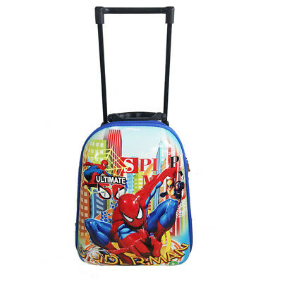 New Spider-Man Travel Suitcase Kid Child Boy Luggage Trolley Backpack School Bag