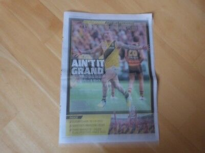 2017 Herald Sun Richmond Tigers AFL 8 Page Souvenir Liftout.YEAR OF THE TIGER