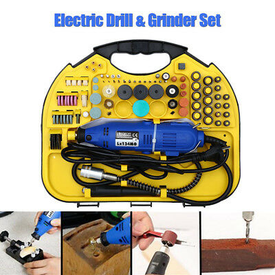211pcs Dremel Rotary Tool Set Mini Drill Grinder Engraver Sander Polisher Craft