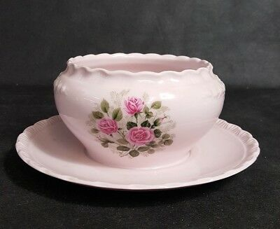 Hutschenreuter porcelaine rose / Suppentasse