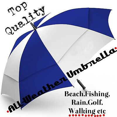 "Large 62"" Reinforced Automatic Golf Umbrella,Sun,Wind,Rain,Snow,Beach,Durable"