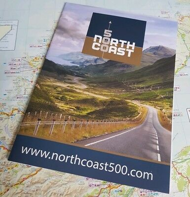 NC500 - North Coast 500, Official route map Scotland LARGE A2 SIZE - 3 IN 1 MAP