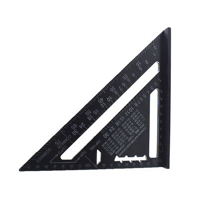 """7"""" Woodworking Triangle Angle Square Ruler Speed Square Rafter Protractor Miter"""
