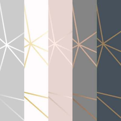 I Love Wallpaper Zara Metallic Wallpaper Pink, White, Grey, Navy, Charcoal