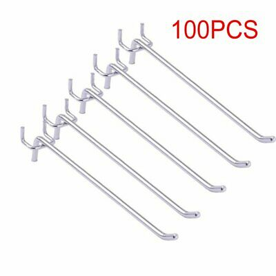 50/100Pcs Peg Board Hooks Board Slat for Wall Retail Display Store Shelving Peg