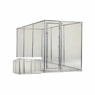 Dog Kennel Large 2 In 1 Big Outdoor Cage Heavy Duty Steel 10 Or 15 Feet Long