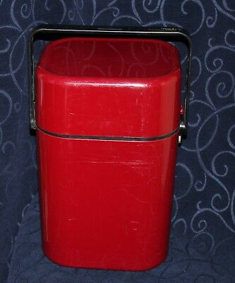 vintage Decor byo wine cooler carrier 4 bottle maroon red colour vgc