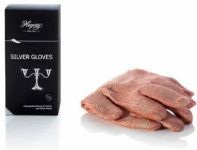 Hagerty Silver Gloves 1 pair for Polishing Cleaning Tarnish Barrier Silver Plate