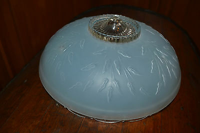 "3-Chain Vintage Antique Victorian 101/2"" GLASS CEILING Light Fixture Globe Shade"