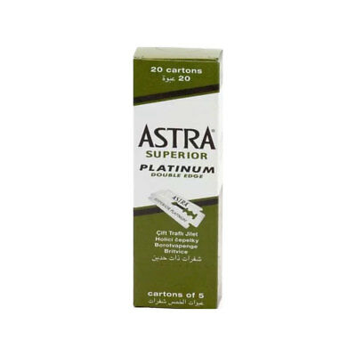 Astra Superior Platinum Double Edge Razor Blades Pack of100 Blades/SAME DAY POST