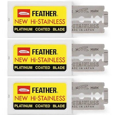 Feather Double Edge Razor Blades Japanese Hi-Stainless Pack Of 30/ SAME DAY POST