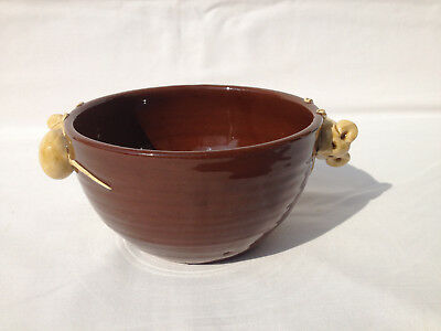 David Cleverly Haytown Studio Pottery Mouse Bowl - 2 mouse handles