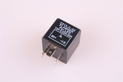 CF13JL-02 3 Pin 12V/DC Car Flasher Relay Fix LED Light Turn Signal Hyper Flash