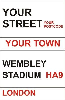 PERSONALISED LONDON STREET Road SIGN Custom Man cave Garage First New Home