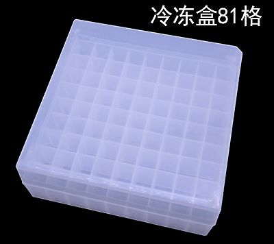 1.8ml Plastic 81 Sockets Centrifuge Tube Stand Holder Box Laboratory Lab