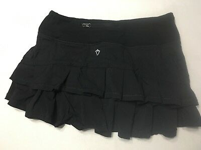 Girls Ivivva Set the Pace Skirt size 10 Black Dance awesome