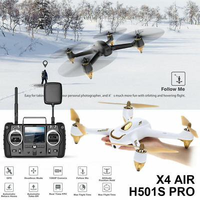 Hubsan H501S X4 Pro Drone 5.8G FPV Brushless 1080P Camera Quadcopter GPS RTH USA