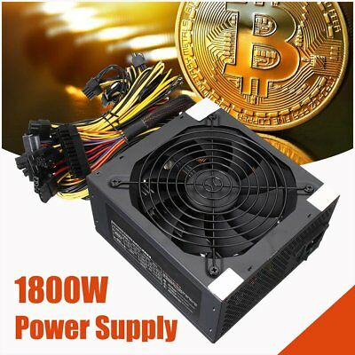 1800W Server PSU 6PIN Mining Machine Power Supply For Antminer S7 S9 A6 A7 L3 SU