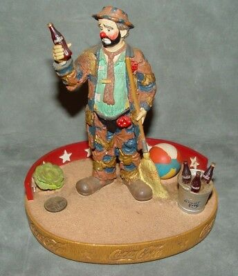 "Emmett Kelly Cocoa Cola Figurine  ""Pause for a Coke"" First Limited Edition"