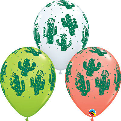 25 x Cactus Latex Balloons Hawaiian Mexican Fiesta Tropical Party Decorations