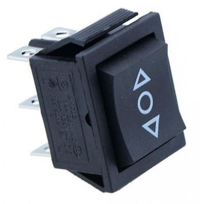 2 x (On)-Off-(On) Rectangle Rocker Switch DPDT