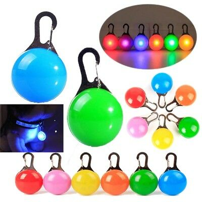 LED Light Tag Clip on Glow Flashing Blinking in the Dark for Pet Dog Cat Bags