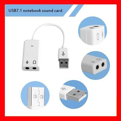USB 7.1 Channel External Sound Card With Independent External Sound Card SU