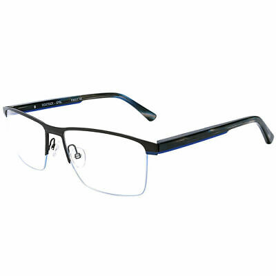 0161bc666f66 Etnia Barcelona Rostock GYBL Grey Blue Metal Rectangle Eyeglasses 56mm