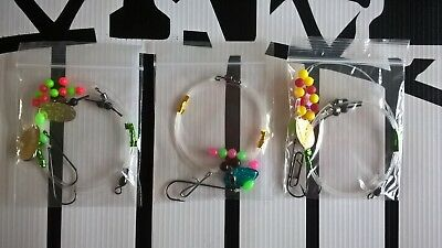 Sea fishing Rigs x 3 - Flatty rigs - Dab, Plaice, Turbot, Flounder shore rigs