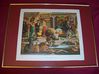 Carl Barks Lithographie signiert