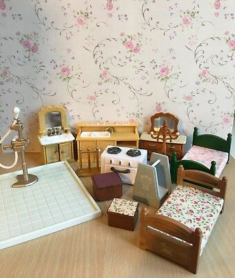 Sylvanian Families Furniture Bundle, Spares Replacements Calico Critters